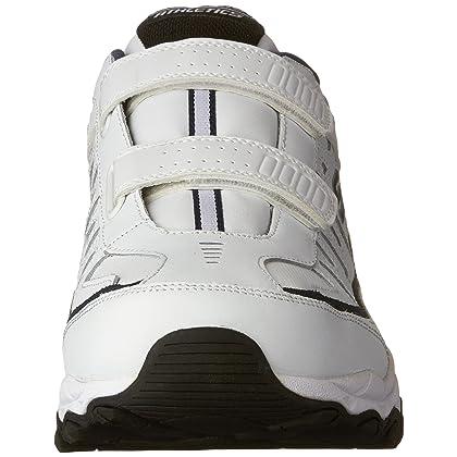 Skechers Men's AFTER BURN M.FIT FI Strike Memory Foam Velcro Sneaker, WhiteNavy, 10 M US