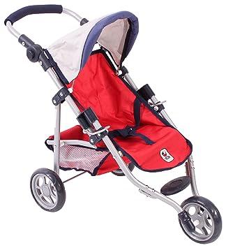 Amazon.es: Bayer Chic 2000 612 95 Jogging Buggy Lola, muñeca Carro, Color Rojo: Juguetes y juegos