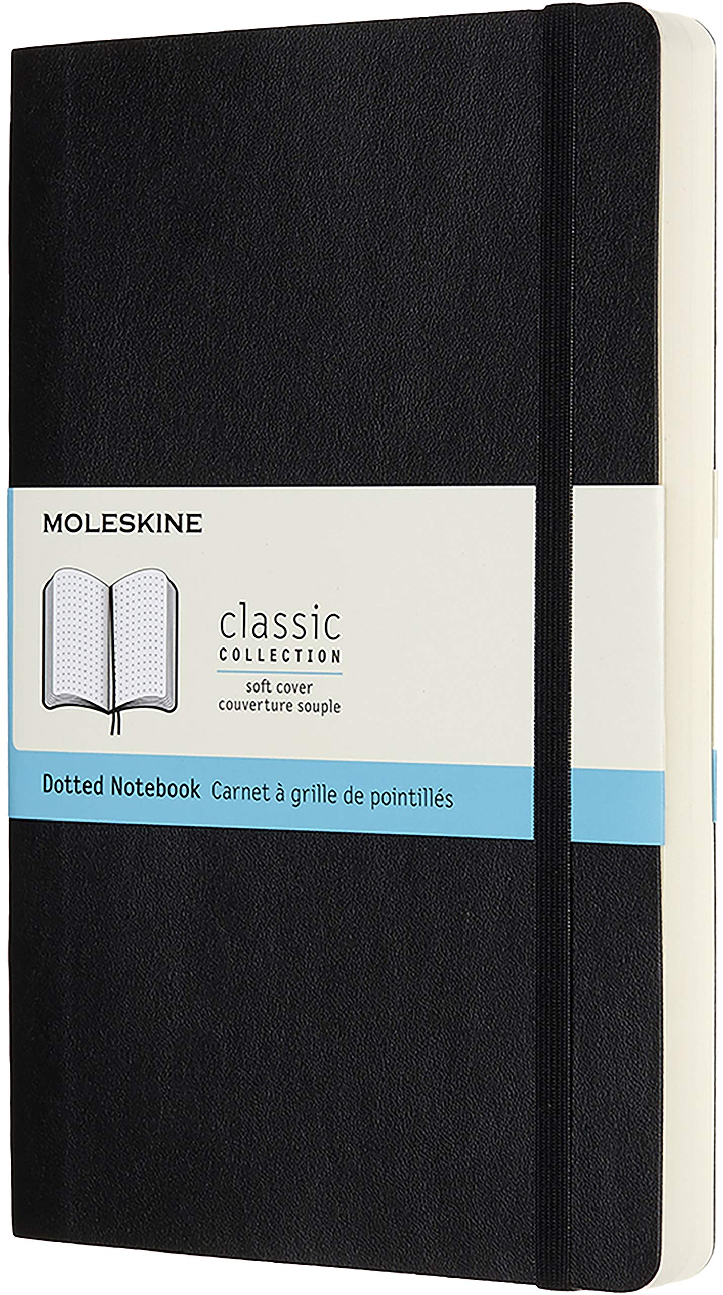 Moleskine Classic Expanded Notebook, Soft Cover, Large (5'' x 8.25'') Dotted, Black