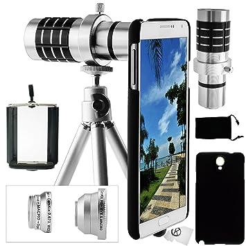 Juego de Lentes para Camara Samsung Galaxy Note 3 incluye Lente Telefoto 12x / Lente Ojo de ...