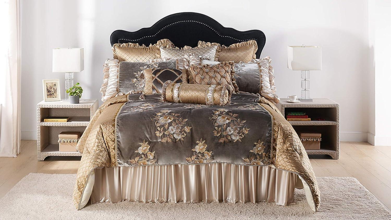 Jennifer Taylor Home Reese 10 Piece King Comforter Set Gray