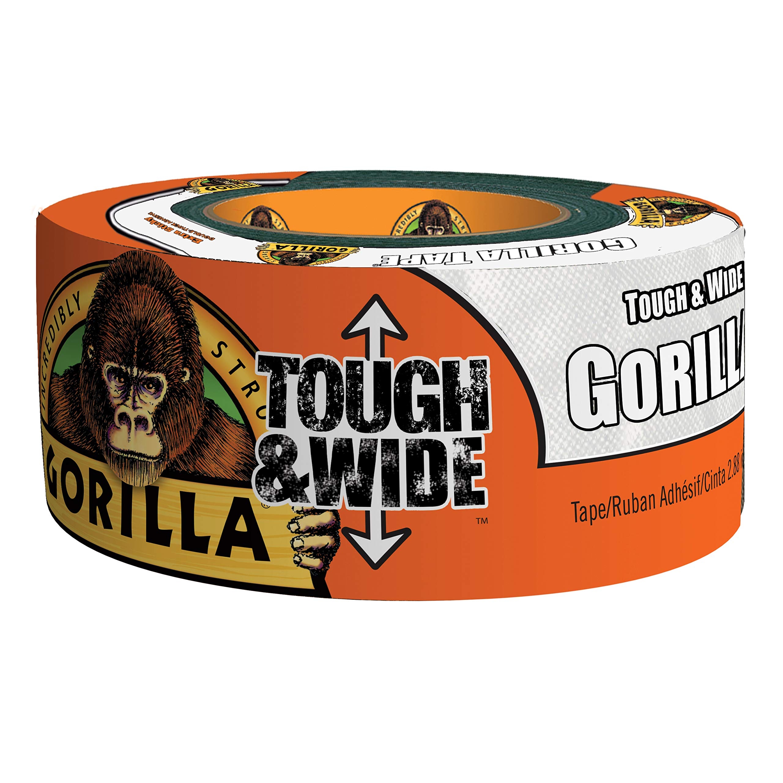 Gorilla 6025302DF Tough & Wide Duct Tape, 4-Pack, White by Gorilla