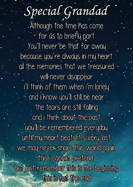 Special Grandad Graveside Poem Memorial Bereavement Keepsake Card