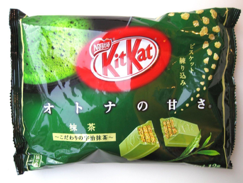 Japanese Kit Kat Maccha Green Tea Flavor (10 Bag) (4.91oz x 10)