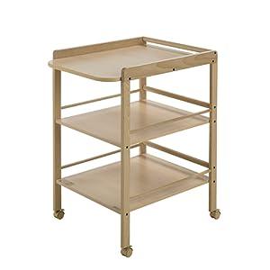 Geuther Table à Langer Clarissa naturelle - Plan à langer + 2 étagères
