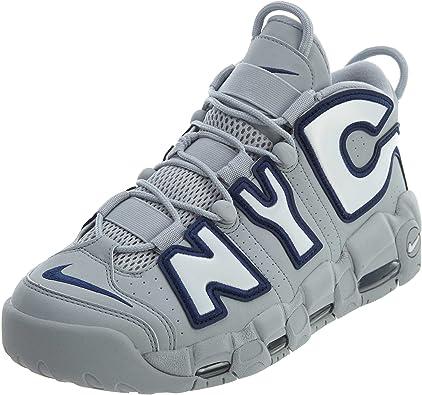 interior Correlación Explícito  Amazon.com | Nike Air More Uptempo NYC Qs yc - Wolf Grey/White Mens |  Basketball