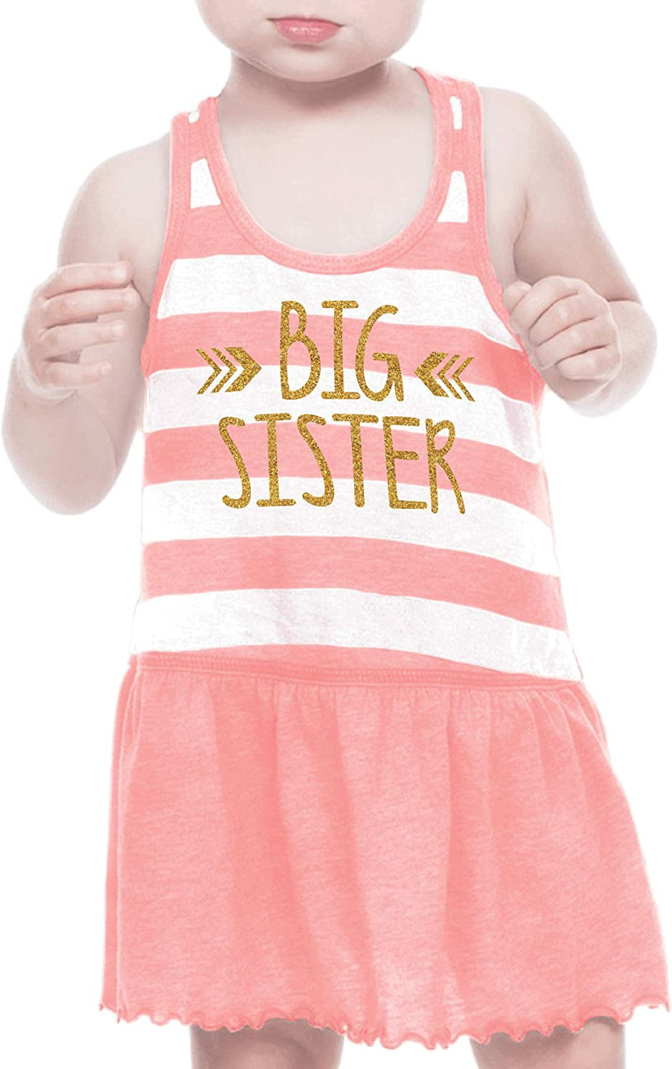 Bump and Beyond Designs Big Sister Dress Baby Girl Outfit Big Sister Summer Dress Outfit