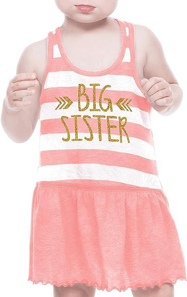 "Girls Dress Age 4 Orange Pink Grey Cotton Mix Racer Back Sleeveless Chest 20/"""