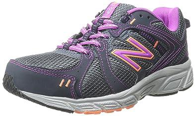 New Balance Women's WE402V1 Running Shoe, Dark GreyPink,