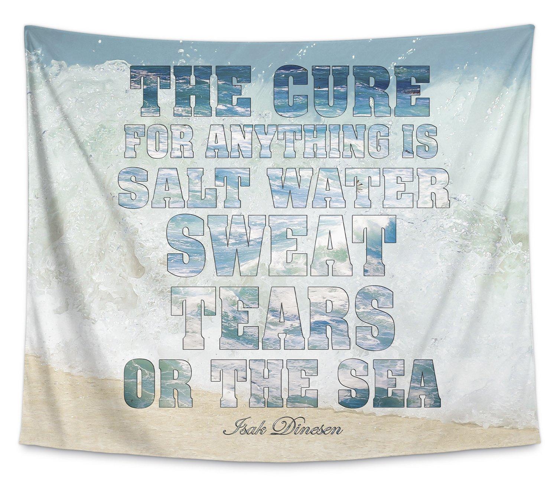 PLUAVC022WT80 Blue//Tan TAP-WT80-80X68-PLU022 - Size: 80x68 - KAVKA Designs The Cure Tapestry,