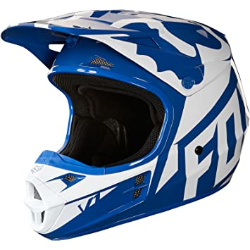 Fox Casco Junior V de 1 Race, Blue, talla YM