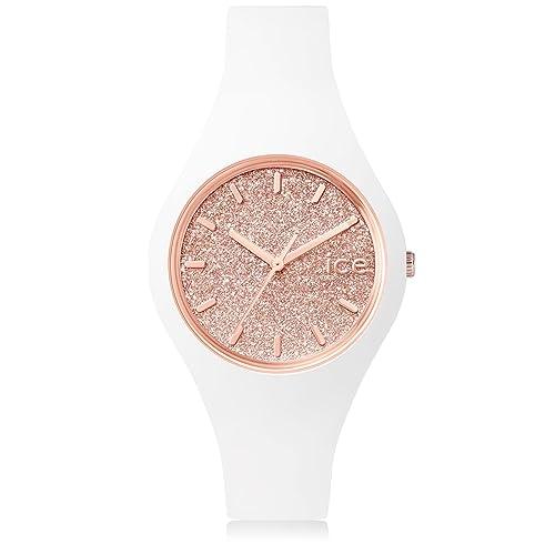 Ice-Watch glitter Women's Analogue Quartz Watch with Rubber Strap