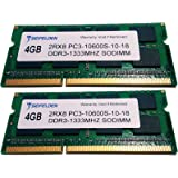 Seifelden 8GB (2X4GB) Kit DDR3/DDR3L 1333mhz PC3-10666 204-pin SODIMM 204-Pin Memory Upgrade Laptop Notebook RAM for Dell HP Acer Apple Asus MSI Mac Gateway ⭐️⭐️⭐️⭐️⭐️