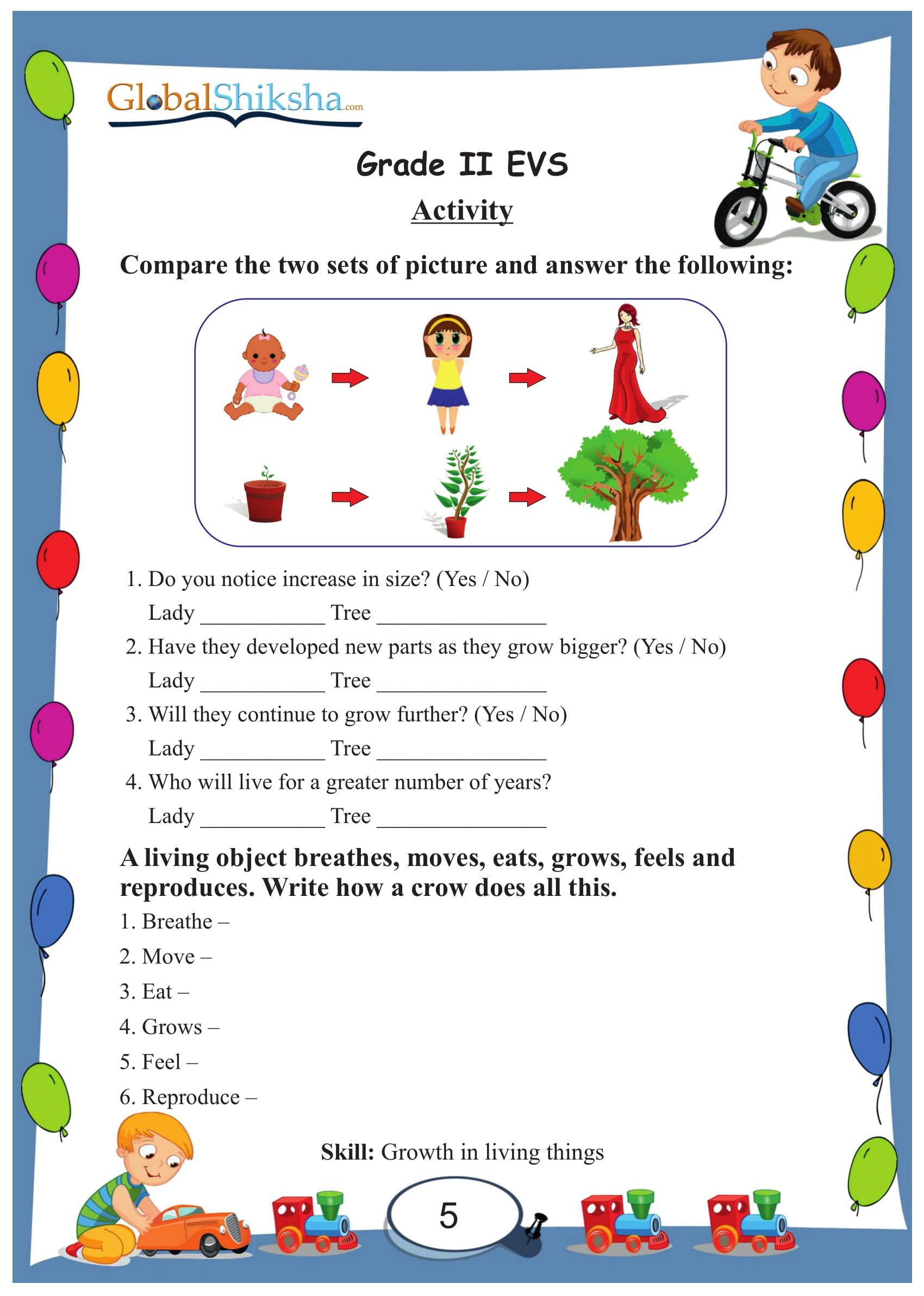 Printables of Grade 2 Evs Worksheets Free - Inspiracao Kids