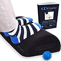 CozyDoc Ergonomic Foot Rest Cushion Under Desk + Massage Ball | The Most Comfortable Footrest for Home, Office, Travel…