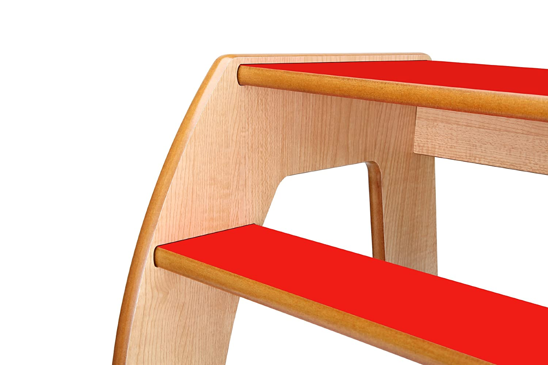 Little Helper FunStep Toddler /& Child Safety Step Stool Maple//Red