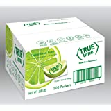 TRUE LIME Water Enhancer, Bulk Pack (500 Packets) | Zero Calorie Unsweetened Water Flavoring | For Water, Bottled Water & Recipes | Water Flavor Packets Made with Real Limes