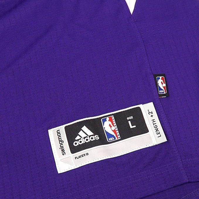 ddfcb1b34697 Amazon.com   adidas Rudy Gay Sacramento Kings NBA Purple Official Road Away  Climacool Swingman Jersey Men   Sports   Outdoors