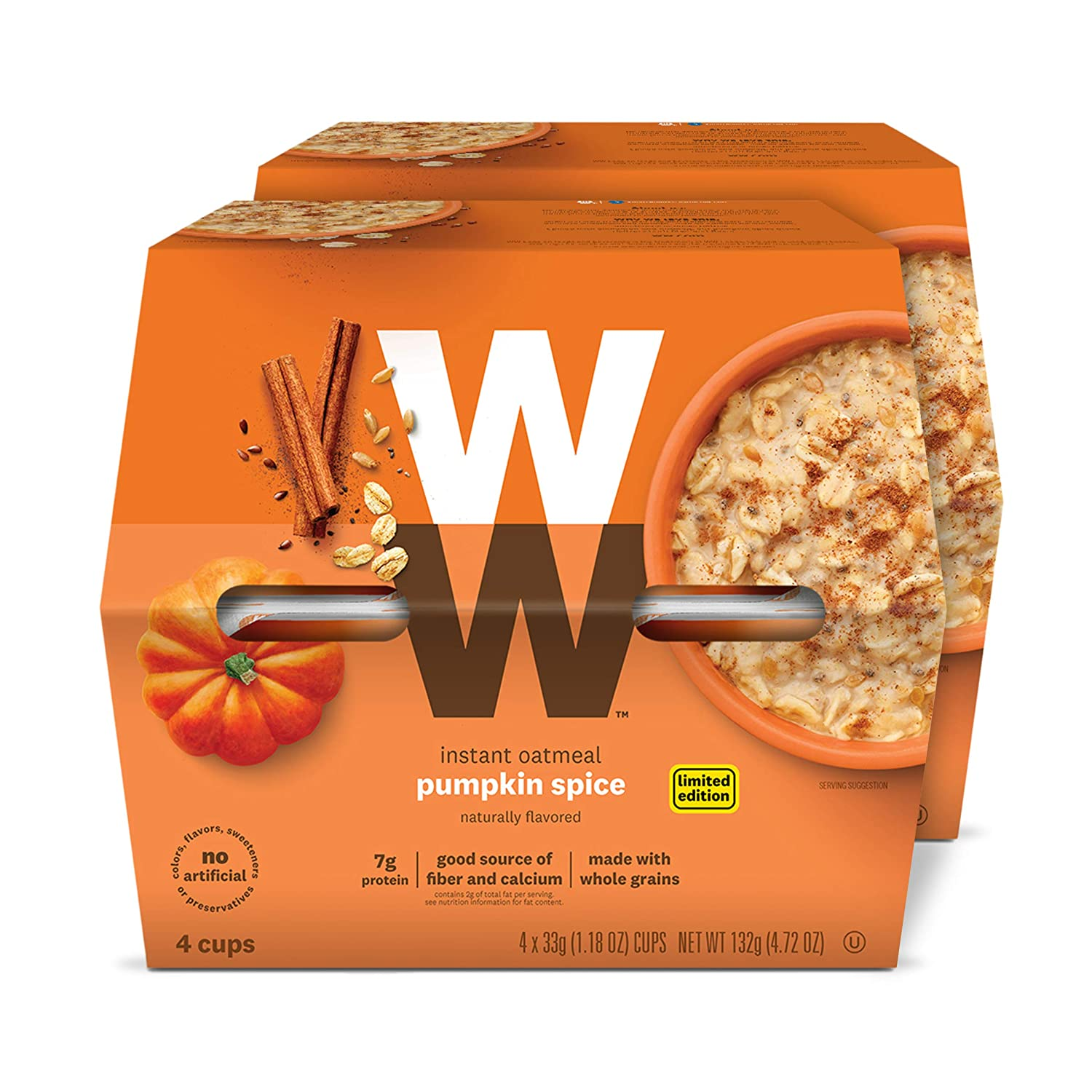 Discontinued: WW Pumpkin Spice Instant Oatmeal - 3 SmartPoints - 2 Boxes (8 Count Total) - Weight Watchers Reimagined