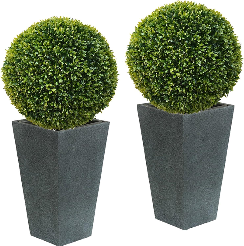 2 x ca Ø 50 cm  Buchsbaumkugel Edel LIGUSTER Buchsbaum Kugel künstlich wie echt