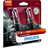 Philips Automotive Lighting 9006 X-tremeVision Upgraded Headlight Bulb with up to 100% More Vision, 2 Pack (9006XVB2)