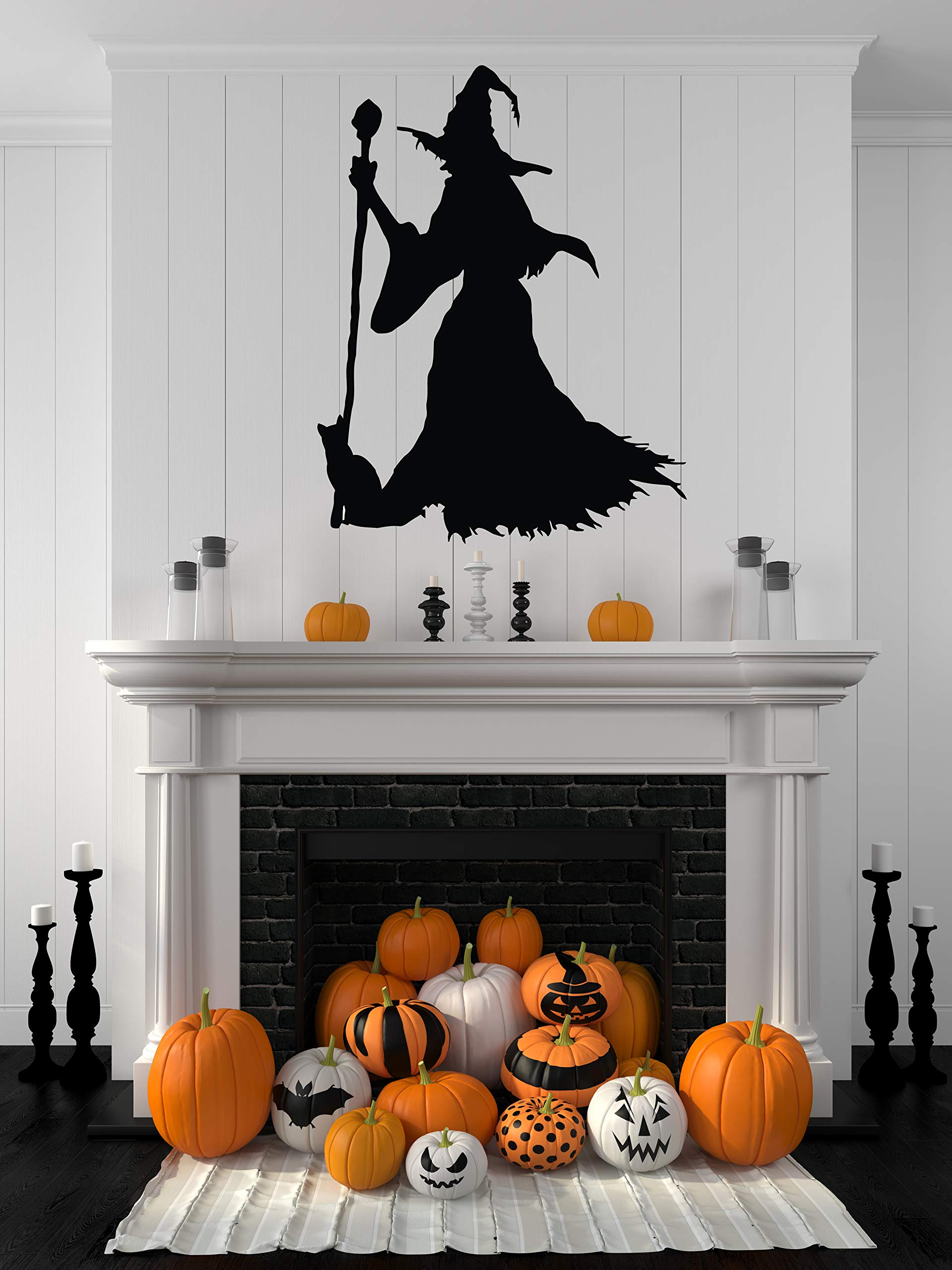 Scary Halloween Decorations Indoor Outdoor - Halloween Wall Decals - Halloween Stickers Window Clings Door Bathroom Home Room Decor - Cute Halloween Party Decorations Ornaments Signs Outside HA068 by Decals Mall