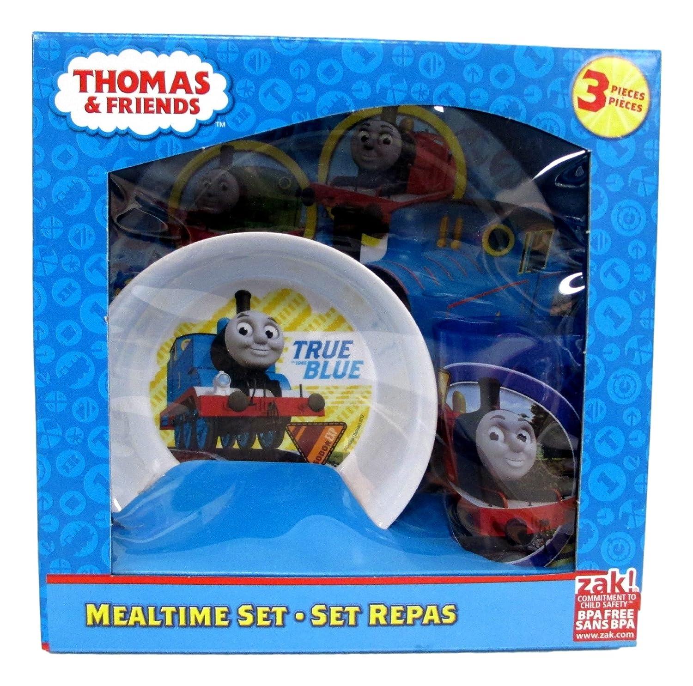 Thomas The Train 3 Pieces Plate, Bowl & Tumbler Mealtime Set Zak Designs