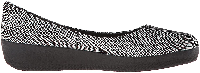 FitFlop Women's Superballerina Ballet Flat Foil B01BFK2XWG 5 B(M) US|Black Foil Flat Snakeprint 37bad3