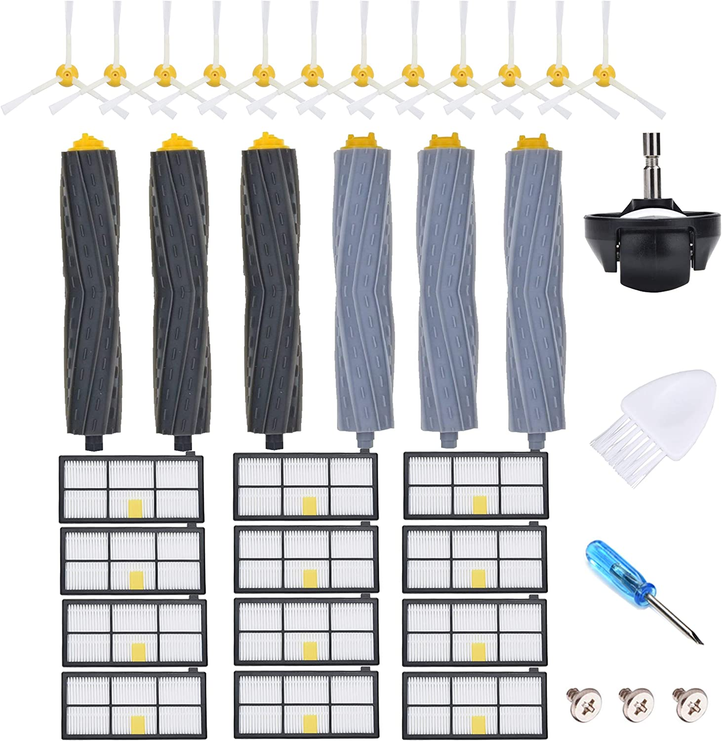 JoyBros 31-Pack Replacement Parts Compatible for iRobot Roomba Accessories 980 860 870 880 890 895 960 Caster Wheel Hepa Filter Brush Roller Vacuum Replenishment Kit…