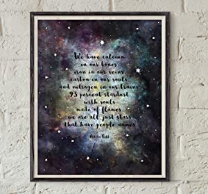 Flowershave357 Galaxy Printable Nikita Gill Poem Poetry Wall Art Stardust Quote Art Literature Wall Decor Outer Space Poster Astronomy Art