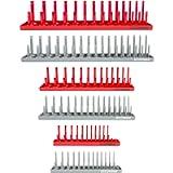 OEMTOOLS 22413 6-Piece Socket Tray Set   Metric & SAE Deep & Shallow Socket Organizers   Holds 80 SAE & 90 Metric…