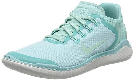 Nike Free Rn 2018 Sun Sz 8 Womens Running Island GreenIgloo Vast Grey Shoes