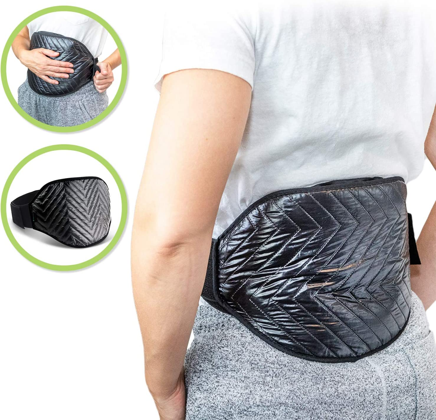 Large Heating and Cooling Reusable Wrap by Soothing Company for Back Pain, Stomach Cramps, Sore Neck, Shoulders, Legs, Joint and Muscle Pain- Hot and Cold Therapy to Support Healing Injuries
