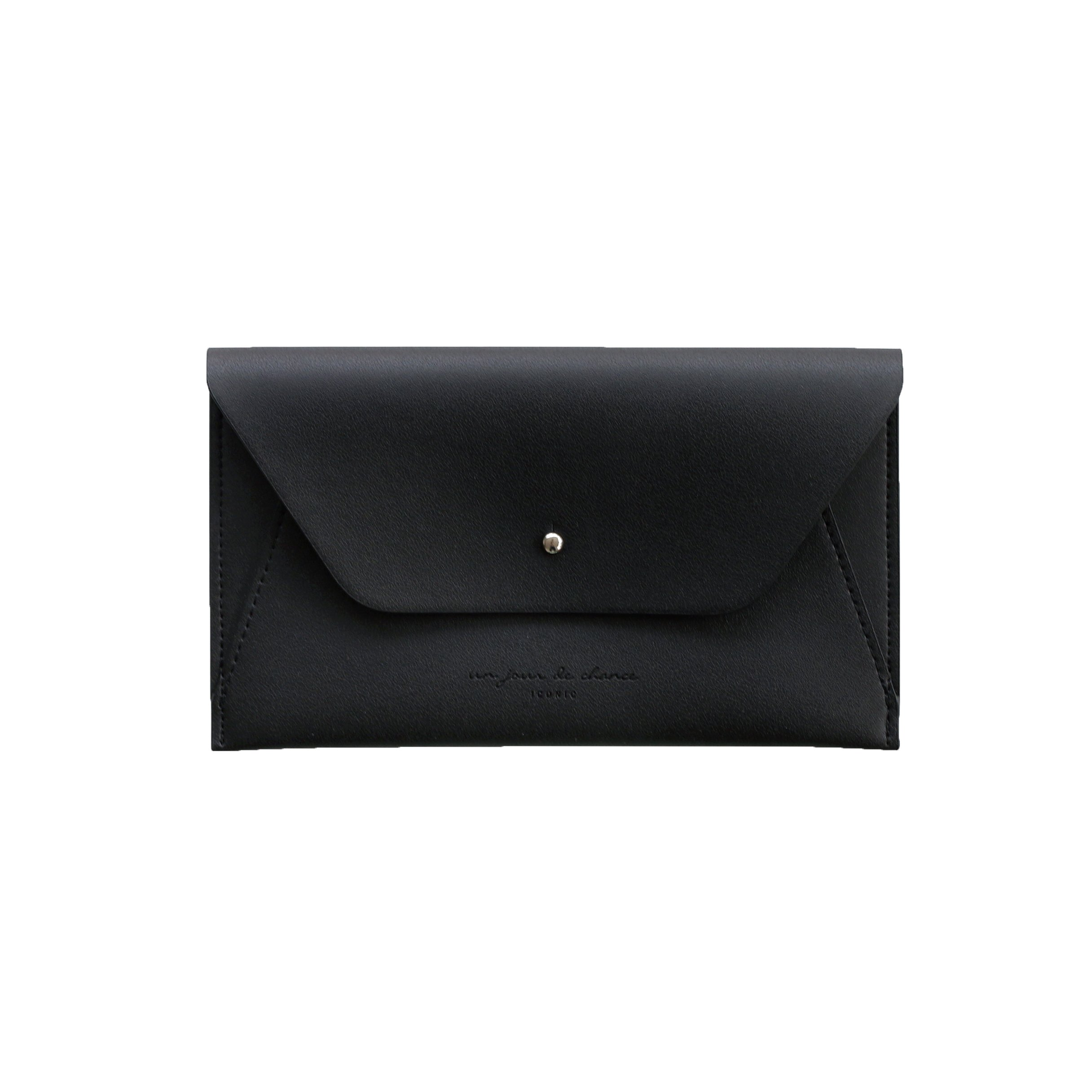 Travel Wallet, ICONIC Wallet Pouch, Minimalist Simple Leather Purse for Men and Women, Black