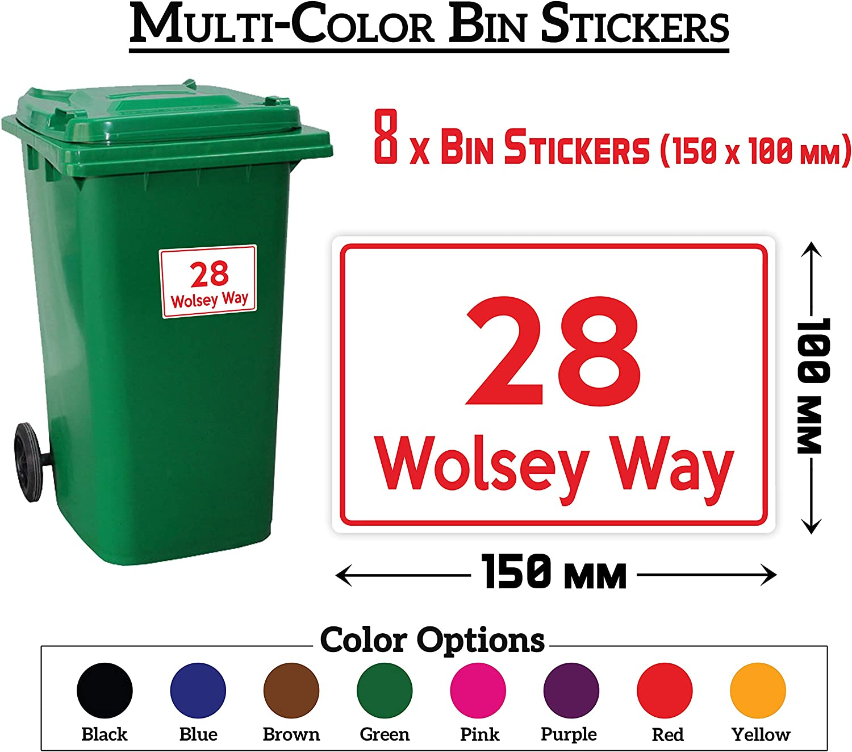 """yellow 2  Self Adhesive Weatherproof Vinyl Wheelie Bin Numbers Stickers  6/"""""""