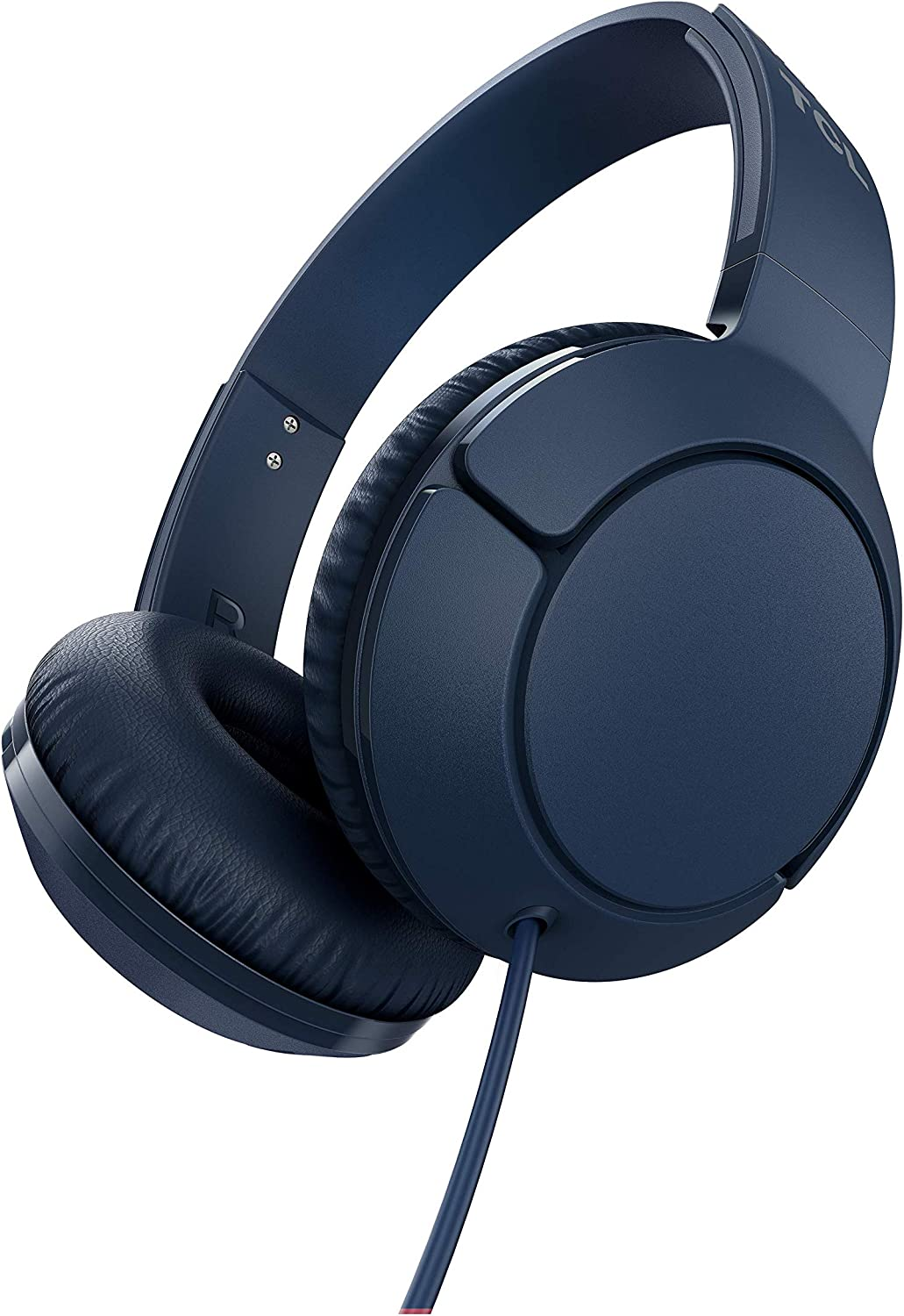 TCL Mtro200 On-Ear Wired Headphones Super Light Weight Headphones with 32mm Drivers for Huge Bass and Built-in Mic – Slate Blue, One Size