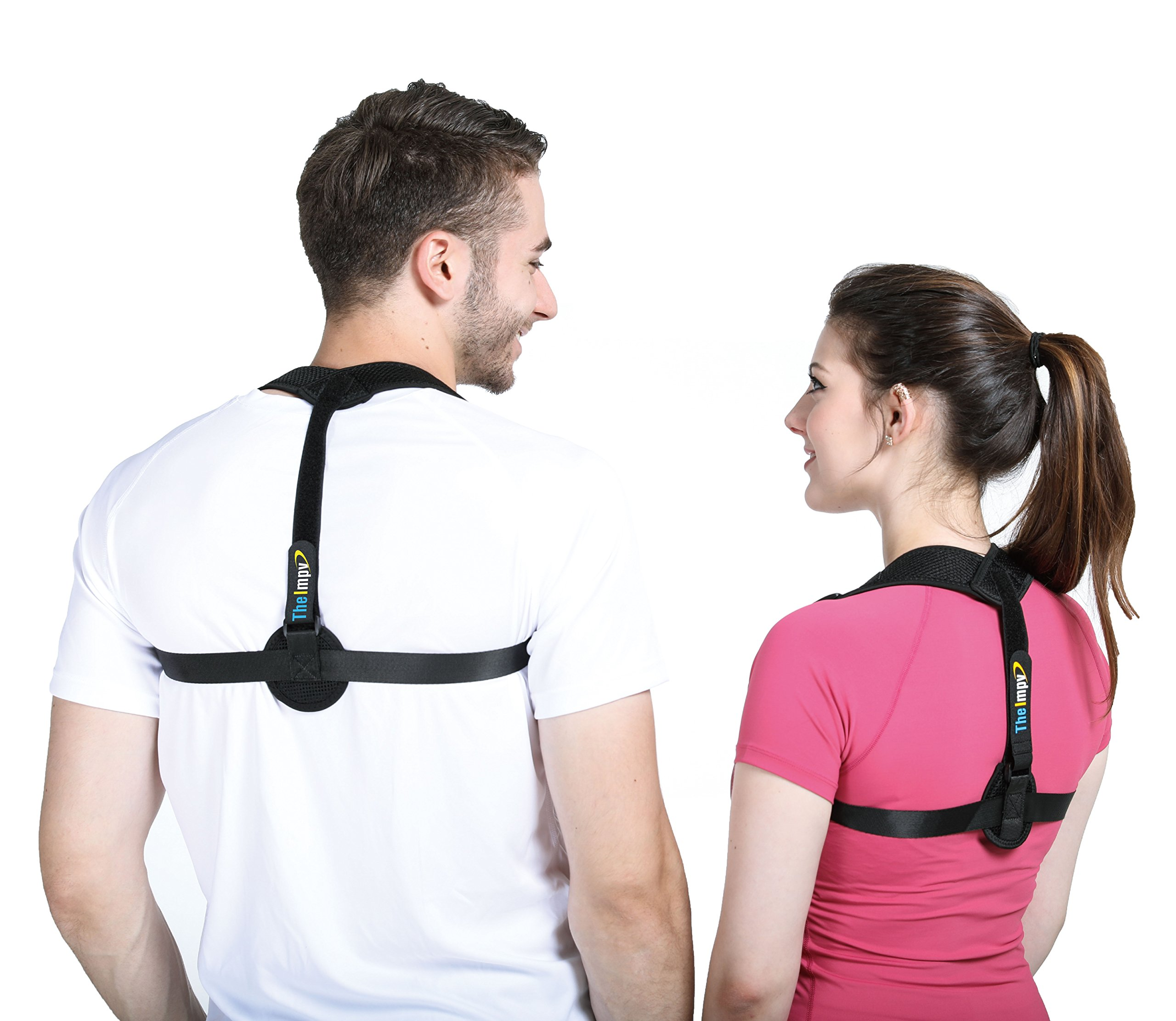 TheImpv Back Posture Corrector for Women, Men & Kids - Adjustable Clavicle Support Brace for Hunching & Slouching, Shoulder & Back - Upper Back Pain Relief - Improve Poor Posture by TheImpv