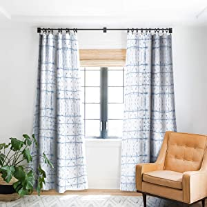 "Deny Designs Jacqueline Maldonado Manifest Slate Blue Blackout Window Curtain, 50"" x 96"""