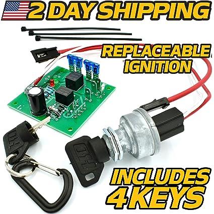 John Deere Starter Ignition Switch Module AM128878 Models 415, 425, 445,  455, sn 70,001 & UP w/2 Umbrella Keys & 2 Standard Keys - HD Switch