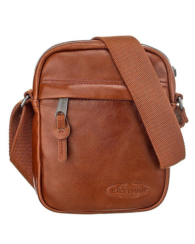 Bolso Cuero marrón para hombre