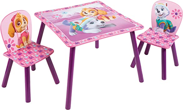 Paw Patrol La Pat Patrouille Ensemble Table Et 2 Chaises Pour Enfants Bois Dense 63x63x45 Cm Amazon Fr Cuisine Maison