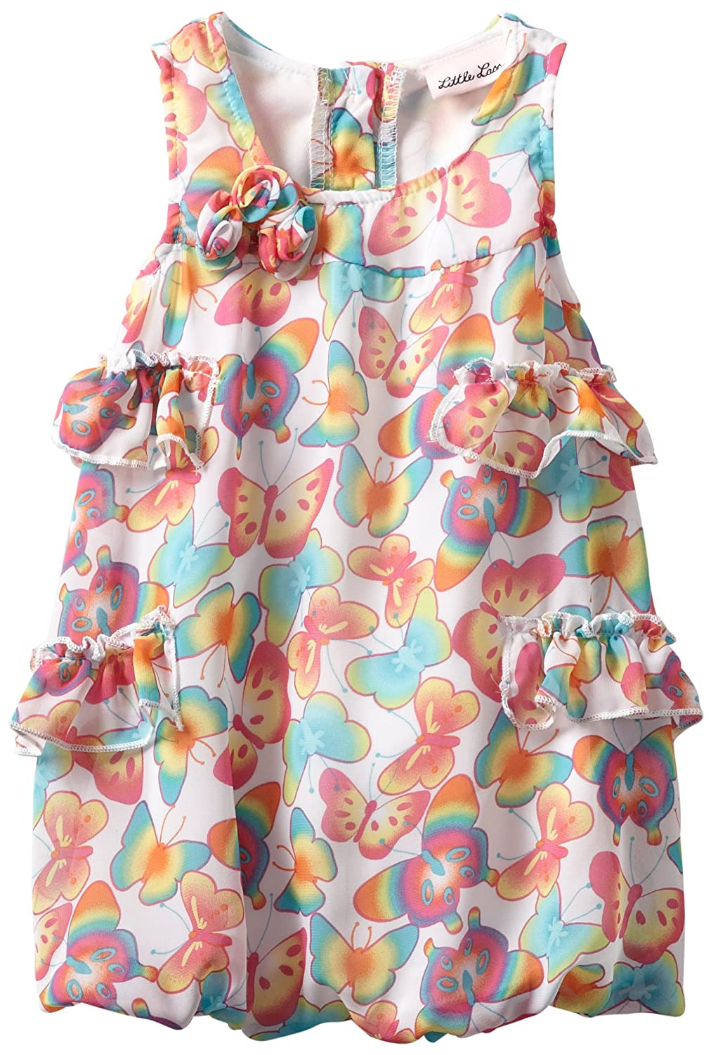 Little Lass Baby Girls Bubble Creeper with Ruffles and Butterflies