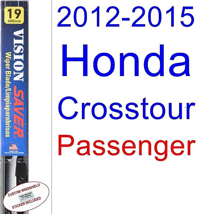 Amazon.com: 2012-2015 Honda Crosstour Replacement Wiper Blade Set/Kit (Set of 2 Blades) (Saver Automotive Products-Vision Saver) (2013,2014): Automotive