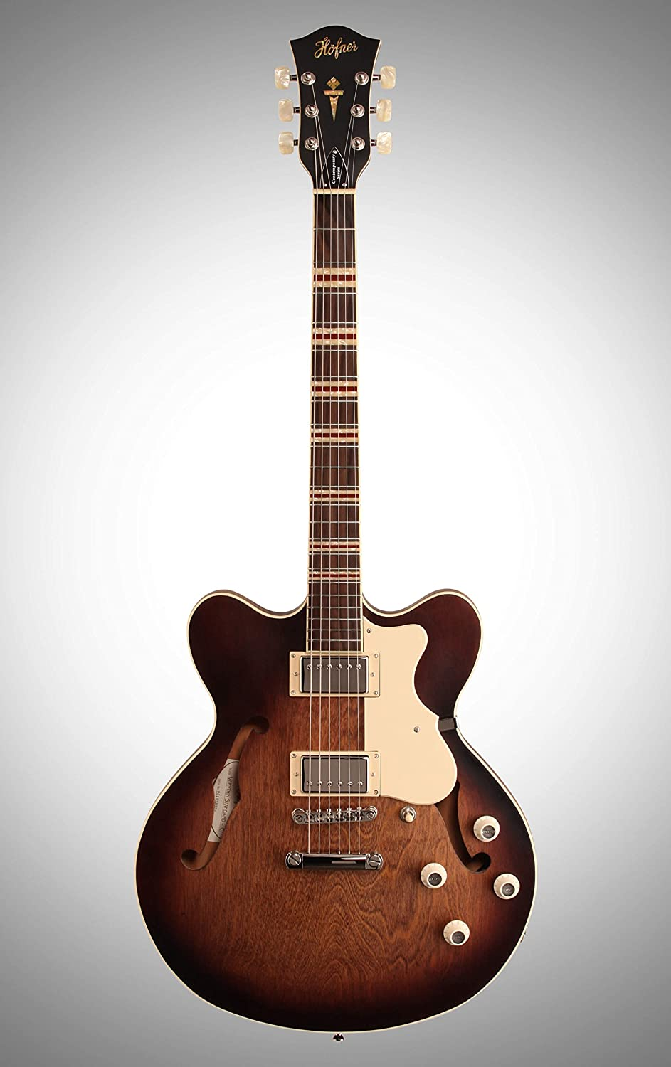 Hofner contemporáneo todo hct-vth-anb-o semi-hollow-body guitarra ...