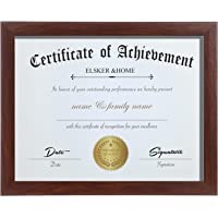 ELSKER&HOME 8.5×11 Certificate Frame - Classic Coffee Color Frame - Document&Certificate - Displays Displomas 8.5×11…
