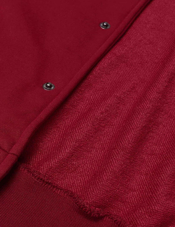 JINIDU Mens Slim Fit Varsity Baseball Jacket Bomber Cotton Letterman Jackets