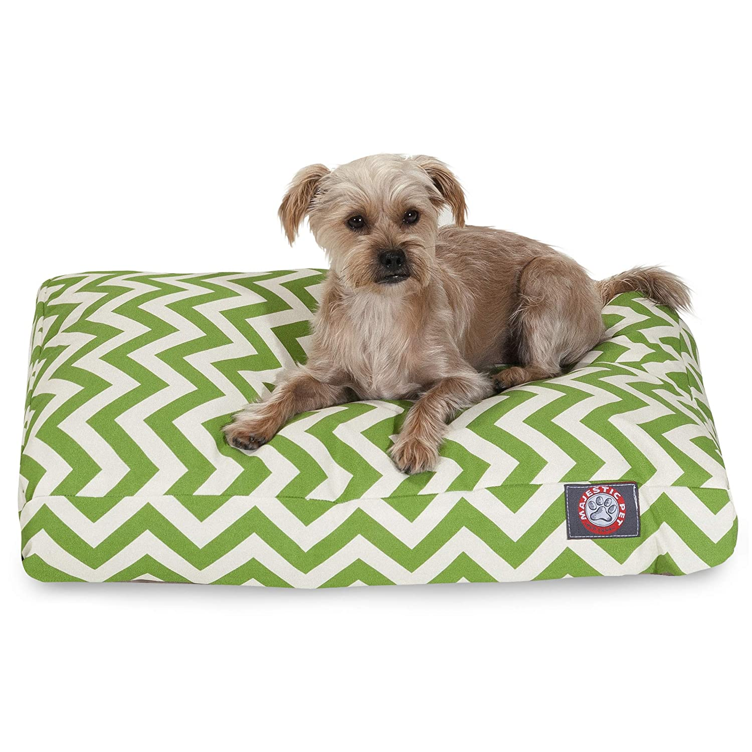 Sage Green S Sage Green S Majestic Pet Sage Chevron Small Rectangle Indoor Outdoor Pet Dog Bed With Removable Washable Cover Products