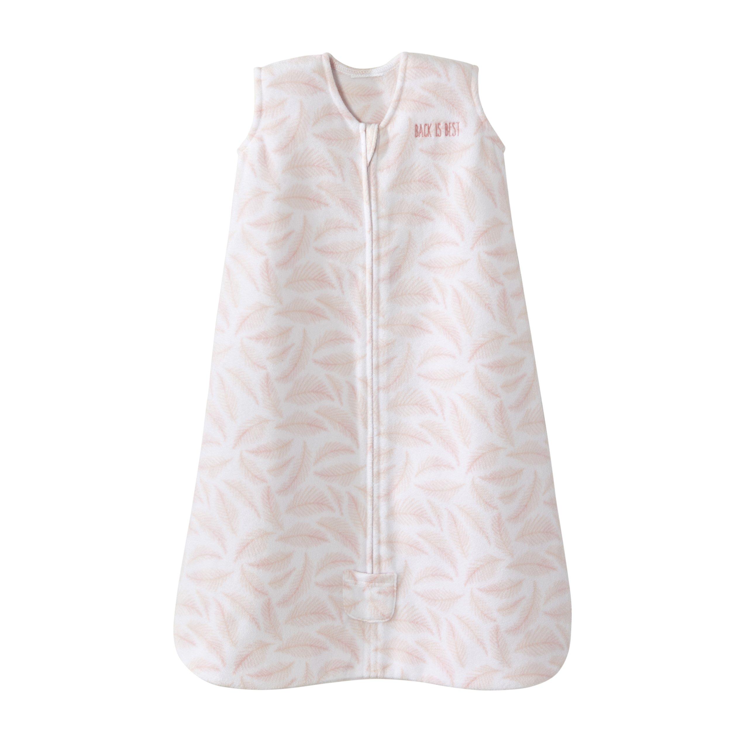 Halo Sleepsack Wearable Blanket Micro Fleece - Pine Leaves Pink,Medium