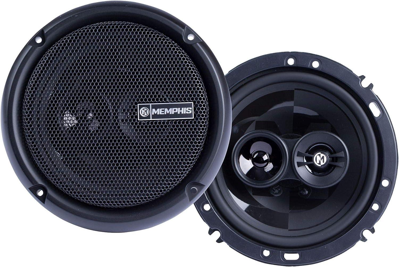 Memphis Audio PRX603 Power Reference 6.5 Inch 3 Way 50 Watt RMS 100 Watt Peak Power Car Audio Coaxial Speaker System