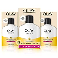 Olay Complete Lotion Moisturizer with Sunscreen SPF 15 Normal, 6.0 Fluid Ounce,...